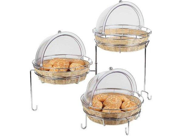 APS Buffet Frame 3 Traps | Metal chrome | For Baskets | 92x77x (H) 50cm