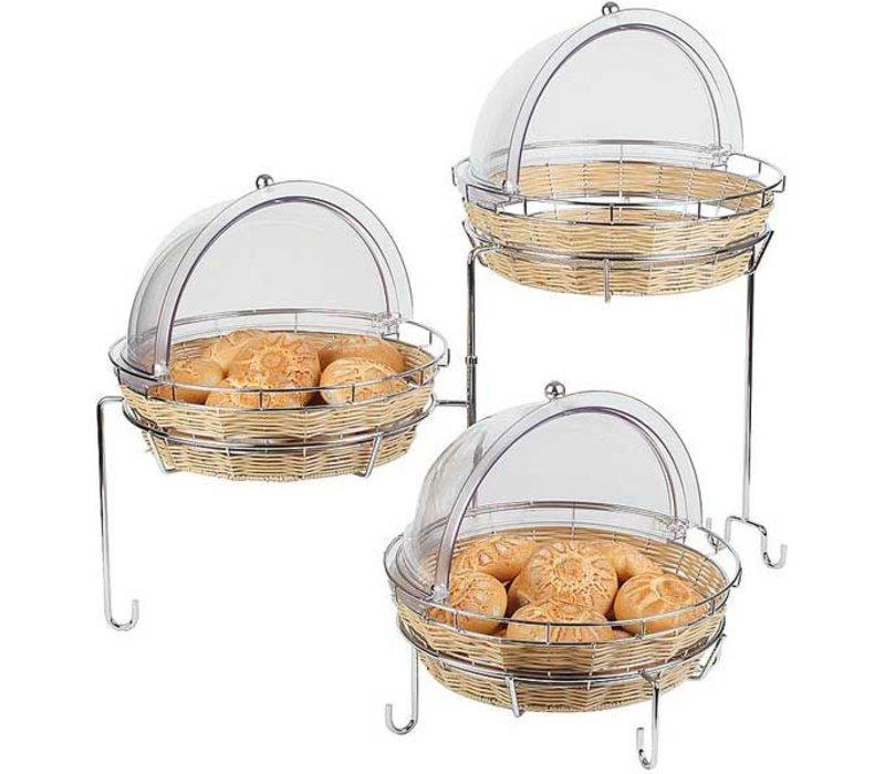 APS Buffet Rahmen 3 Fallen | Metall chrom | Für Baskets | 92x77x (H) 50cm