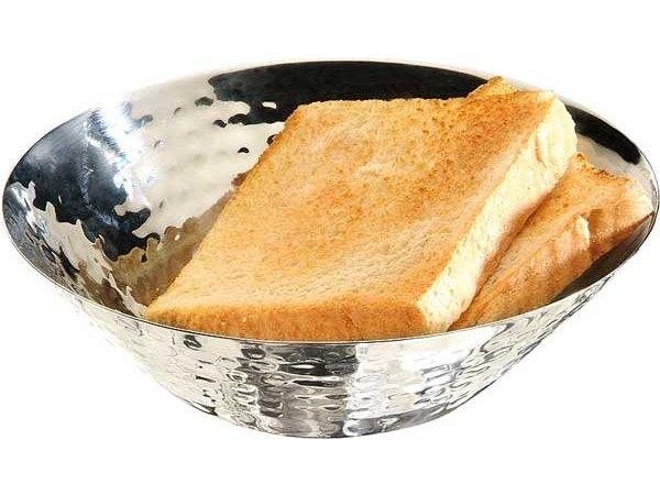 APS Brood/Fruitschaal | Gehamerd Effect | RVS | Ø16x(H)5cm