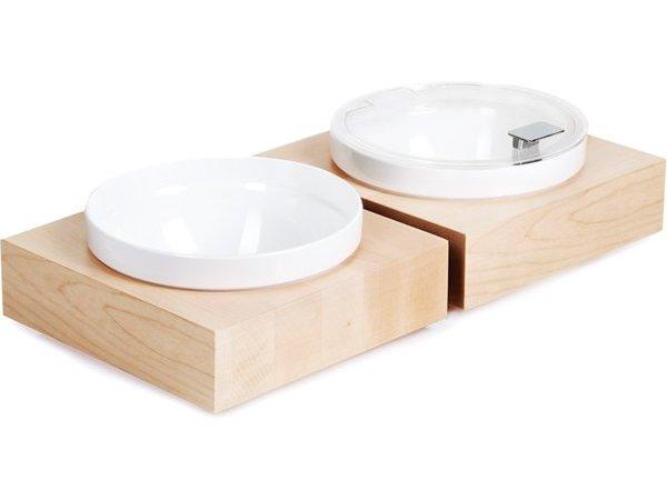 APS Buffet Box Vierkant Groot   Inclusief witte Melamine Kom   26,5x26,5x(H)8,5cm