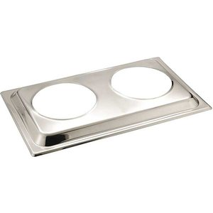 APS Lid for Bain Marie | Stainless steel | 54x33,5cm