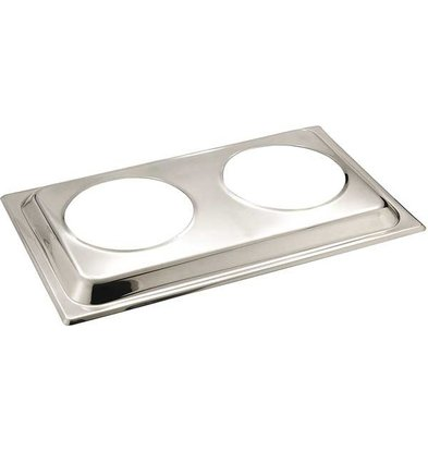 APS Deckel für Bain-Marie | Edelstahl | 54x33,5cm