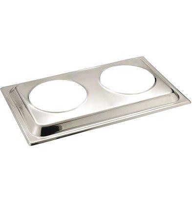 APS Deksel voor Bain Marie | RVS | 54x33,5cm
