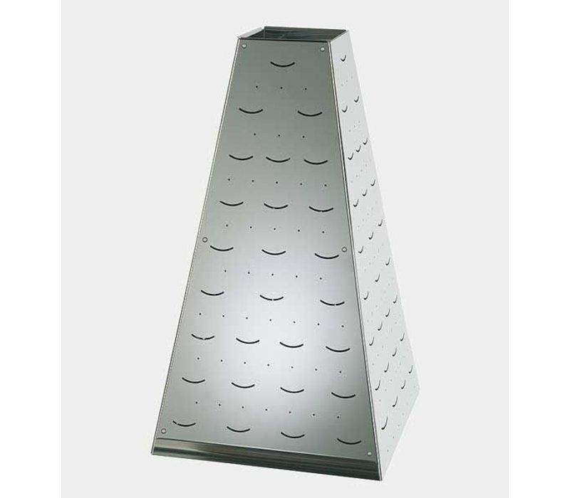 APS Buffet Pyramide Große | Edelstahl | 30x30x (H) 53cm