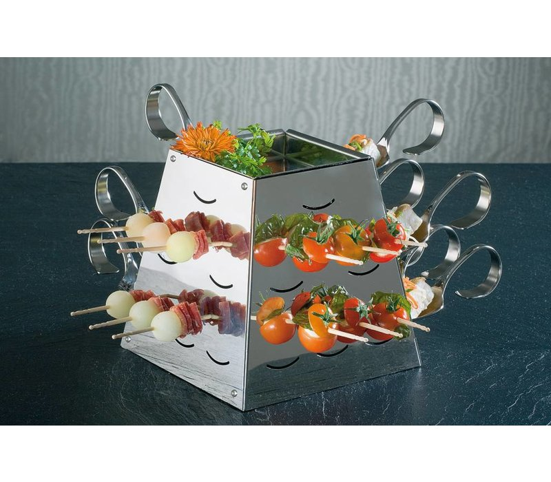 APS Buffet Pyramide Set Small   Stainless steel   17x17x (H) 17cm