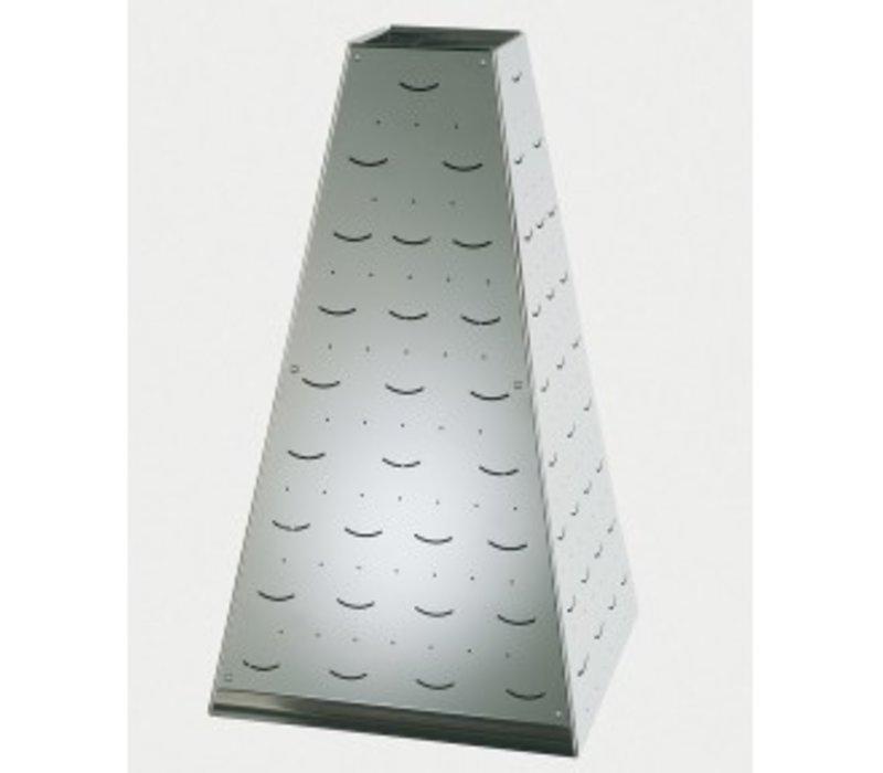 APS Buffet Pyramide Klein   Edelstahl   17x17x (H) 17cm