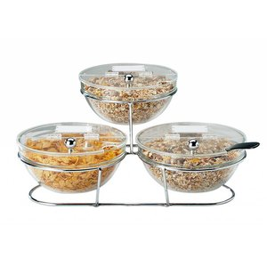 APS Big buffet Stand | 1 Trap Tray | 7 Pieces | 50x50x18cm