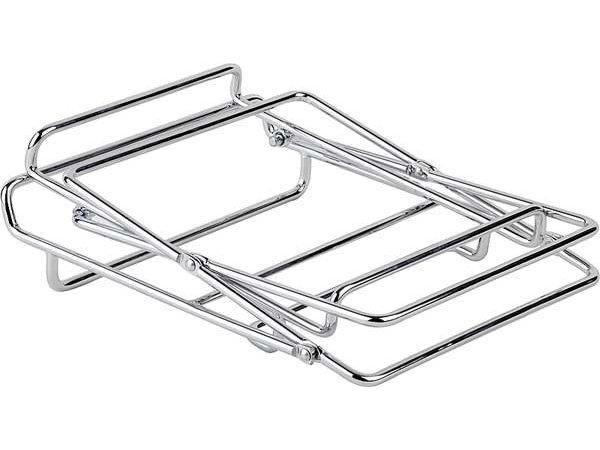 APS Buffet Stand 2 Traps | Voor Mandjes | Metaal Verchroomd |46x24cm