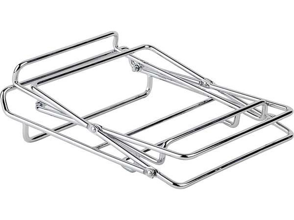 APS Buffet Table 2 Traps   For Baskets   Chromed metal   46x24cm
