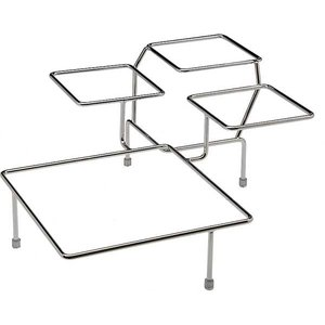 APS Buffet Frame Big Float | Chromed metal | 4 Scales | 39x39x (H) 17cm