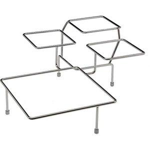 APS Buffet Rahmen Big Float | Verchromtem Metall | 4 Waagen | 39x39x (H) 17cm