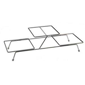 APS Buffet Frame Float Small | Metaal Verchroomd | Voor 3 Schalen | 55,5x19x(H)15,5cm