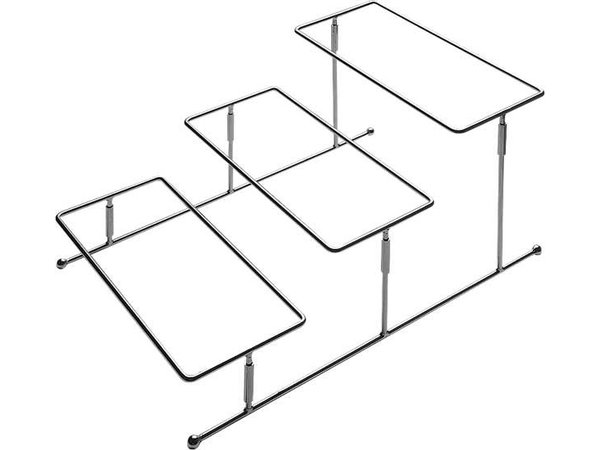 APS Buffet Rahmen Reine | Verchromtem Metall | 45,5x32x (H) 21.5cm