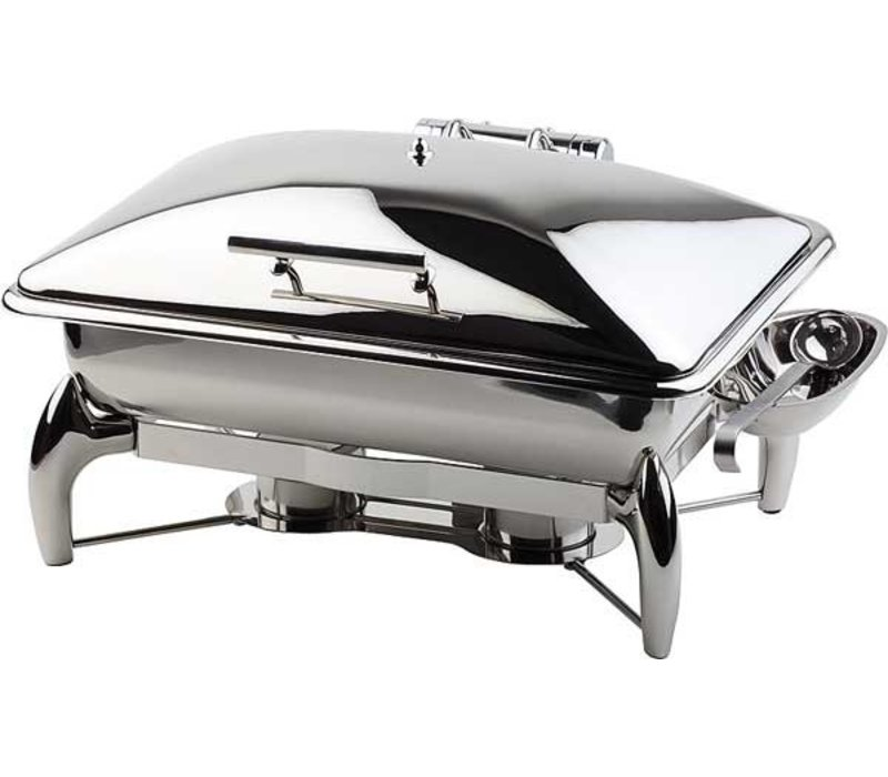 APS Chafing Dish Globe | GN 1/1 | Stainless steel | 9 Liter | 580x440x (H) 325mm