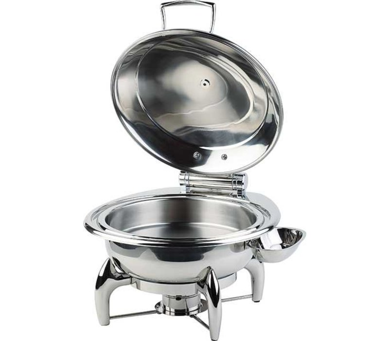 APS Chafing Dish Rond | RVS Deksel | Inclusief Frame