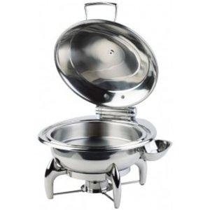 APS Chafing Dish Round | Edelstahldeckel | Einschließlich Rahmen