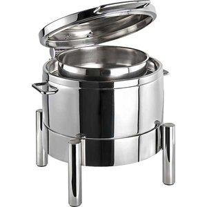 APS Chafing Dish Round | Premium | Edelstahl | Hydraulische Scharnier | 440x480x (H) 390mm