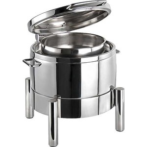 APS Chafing Dish Round | Premium | Stainless steel | Hydraulic Hinge | 440x480x (H) 390mm