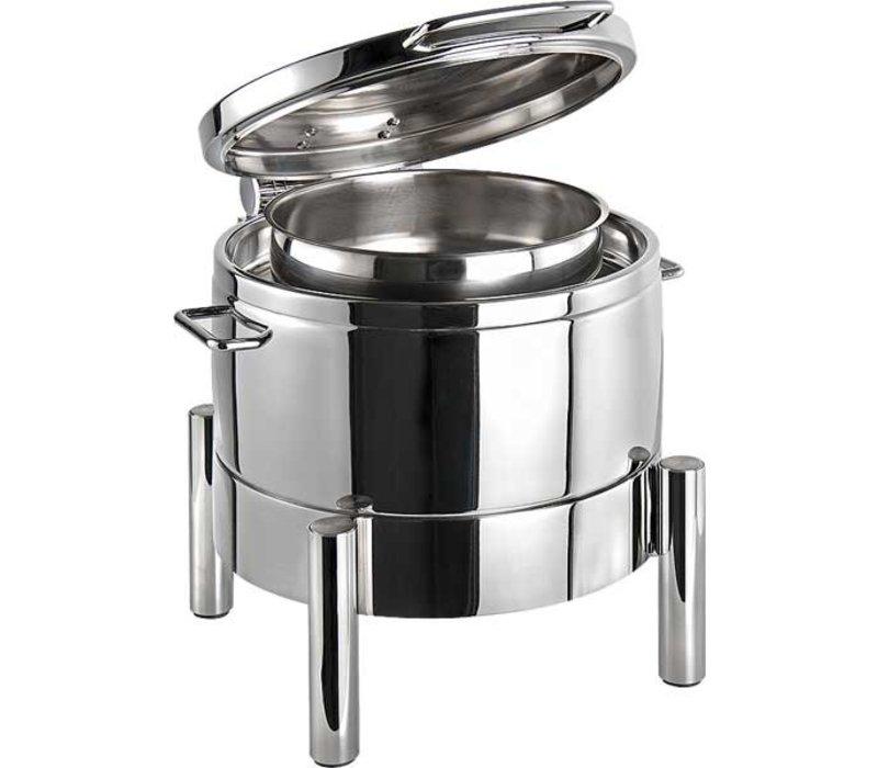 APS Chafing Dish Round | Premium | Stainless steel | Hydraulic Hinge | 440x480x (H) 390mm