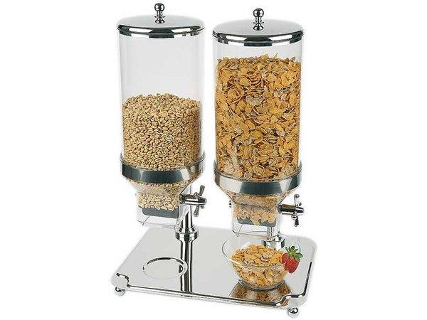 APS Cereal Dispenser Classic | Inhoud 2x8 Liter | 350x500mm, Hoogte 680mm