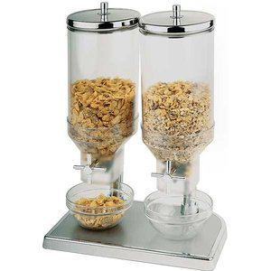 APS Cereal Dispenser Fresh & Easy | Stainless steel | 2x4,5 Liter | 220x35x (H) 520mm