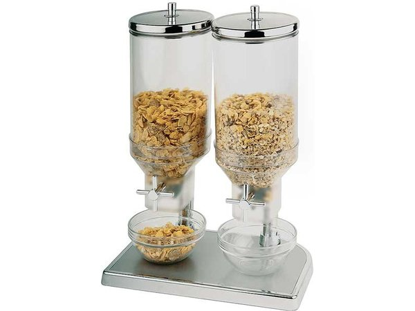 APS Cereal Dispenser Fresh & Easy   Edelstahl   2x4,5 Liter   220x35x (H) 520mm