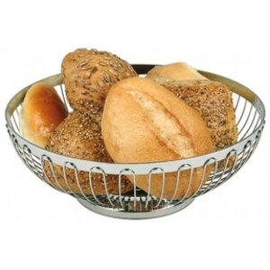 APS Bread Basket Oval Stainless Steel - 200x (H) 150mm