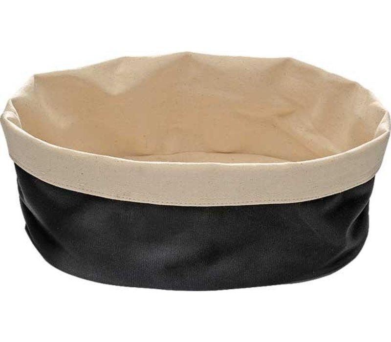 APS Broodtas Oval - Schwarz / Beige - 250x180x (h) 90 mm
