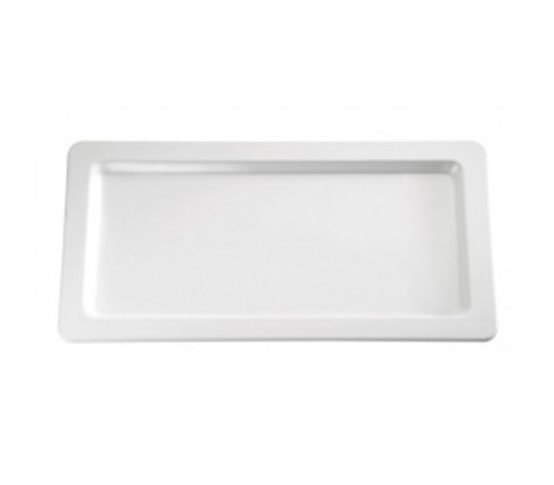 APS Scale Rectangle | Melamine White | GN 1/2 | 325x265x (H) 25mm