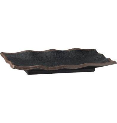 APS Scale - MARONE - Melamin Schwarz - mit Brown Edge - 225x150x (h) 30 mm