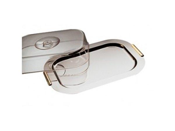 APS Schaal met Deksel 'Finesse' | Roestvrij staal | 420x310mm