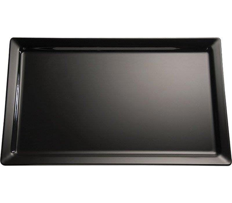APS Schaal Pure | Rechthoekig | Melamine Zwart | 600x200x(H)30mm