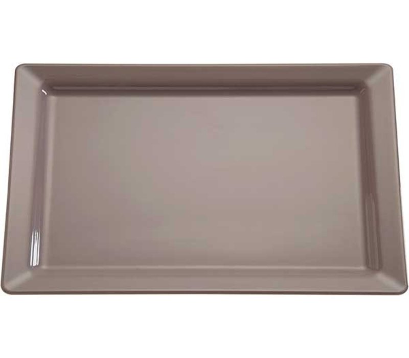 APS Scale Pure   Rectangle   Melamine Taupe / Gray   GN 1/1, 530x325x (H) 30mm