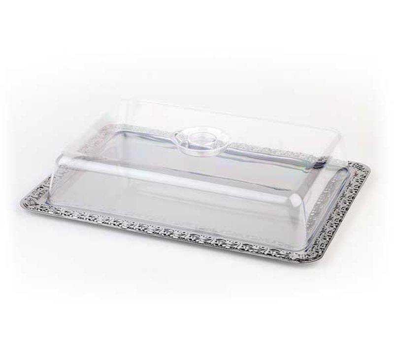 APS Bedecken Sie den Teller Schoner Essen | Rechteckig | Edelstahl | 420x310mm