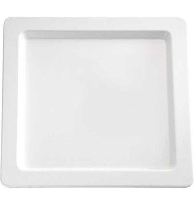 APS Presentatie Schaal   Melamine Wit   vierkant   Duurzaam   330x330  (h) 25 mm