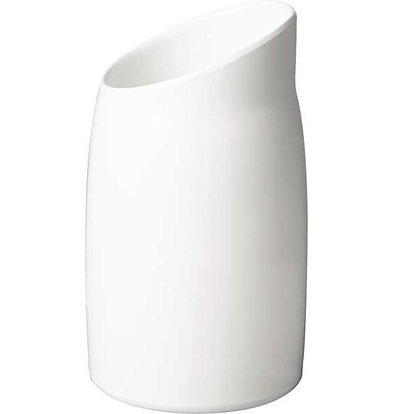 APS Dressing Pot | Melamin Weiß | Inhalt 1 Liter | Ø 12cm, Höhe 21,5 cm