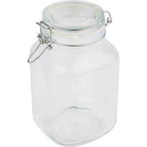 APS Voorraadpot Glas   2 Liter   Luchtdichte Deksel   12x12x(H)22cm