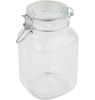 APS Glass Jar | 2 Liter | Airtight Lid | 12x12x (H) 22cm