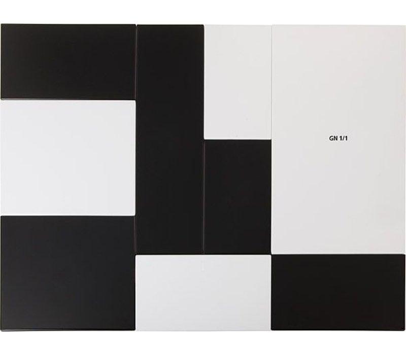 APS Presentatieblad Zero | Melamine Wit | GN 1/1 | 53x32,5x(H)1,5cm