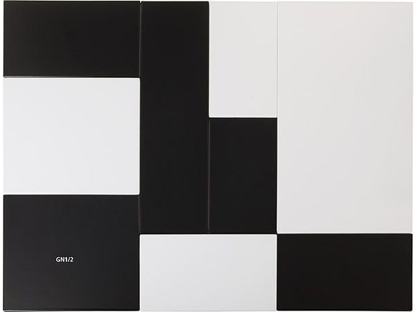 APS Tray Null | Melamin Schwarz | GN 1/1 | 53x32,5x (H) 1,5 cm