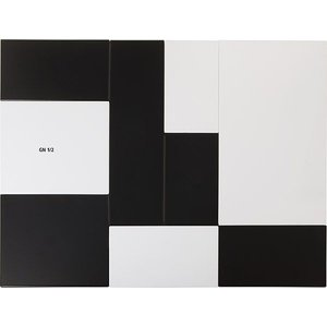 APS Presentatieblad Zero | Melamine Wit | GN 1/2 | 32,5x26,5x(H)1,5cm