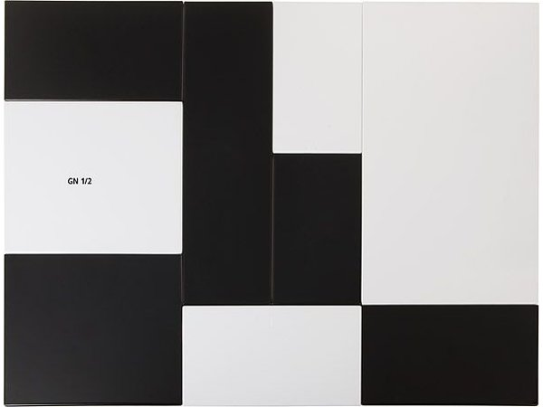 APS Tray Null | Melamin Weiß | GN 1/2 | 32,5x26,5x (H) 1,5 cm