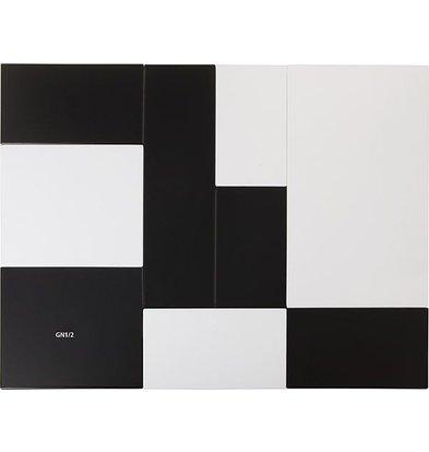 APS Tray Zero | GN 1/2 | Melamine Black | 32,5x26,5x (H) 1.5cm