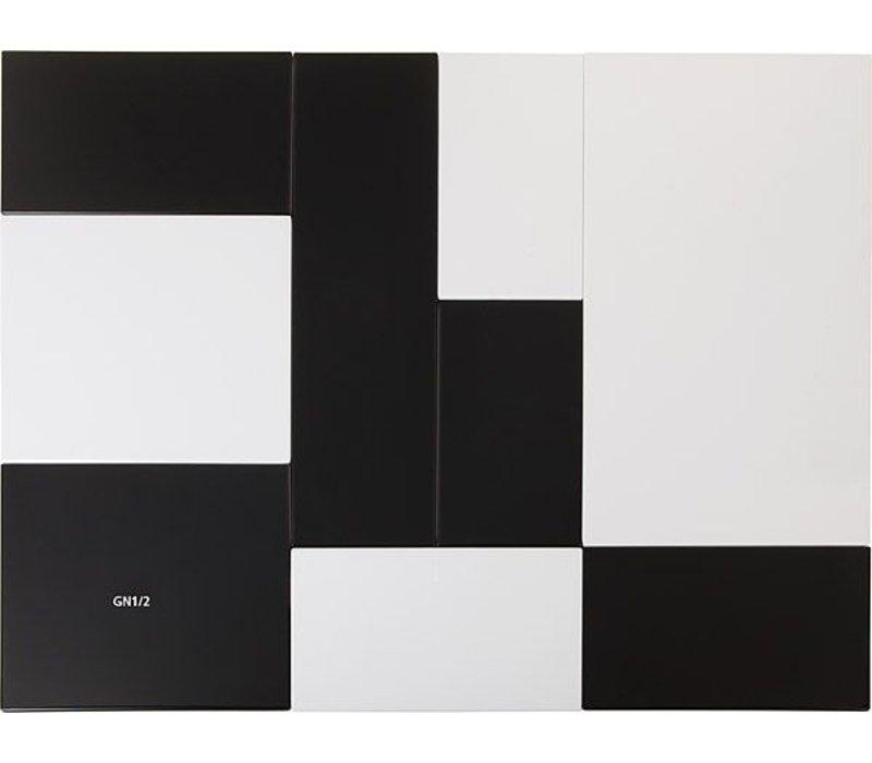 APS Tray Null | GN 1/2 | Melamin Schwarz | 32,5x26,5x (H) 1,5 cm