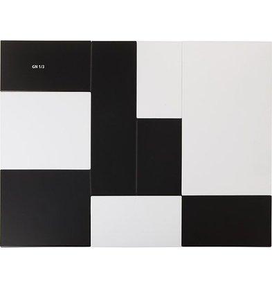 APS Tray Zero | Melamine Black | GN 1/3 | 32,5x17,6x (H) 1.5cm