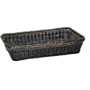 APS GN 1/4 Buffet Basket - Black / Brown - 265x162x (h) 100mm