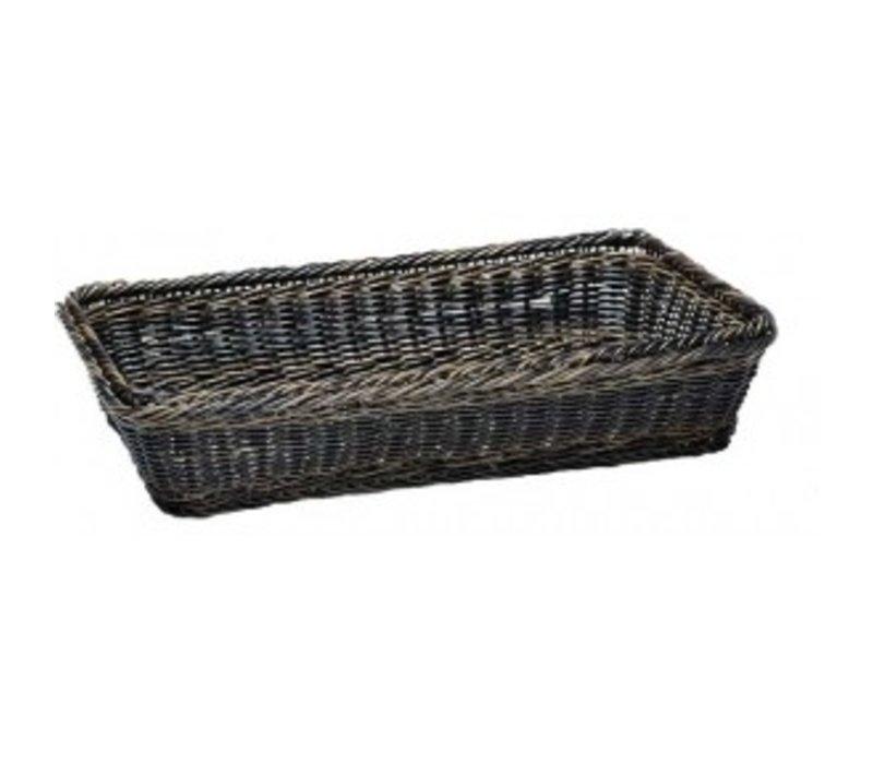 APS GN 1/4 Buffet Basket - Schwarz / Braun - 265x162x (h) 100mm