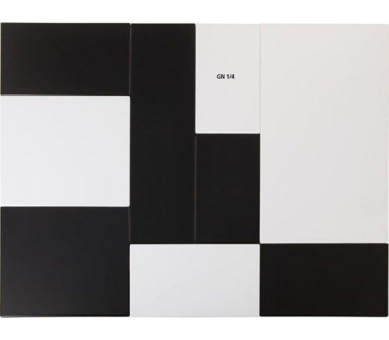 APS Tray Null | GN 1/4 | Melamin Weiß | 26,5x16,2x (H) 1,5 cm