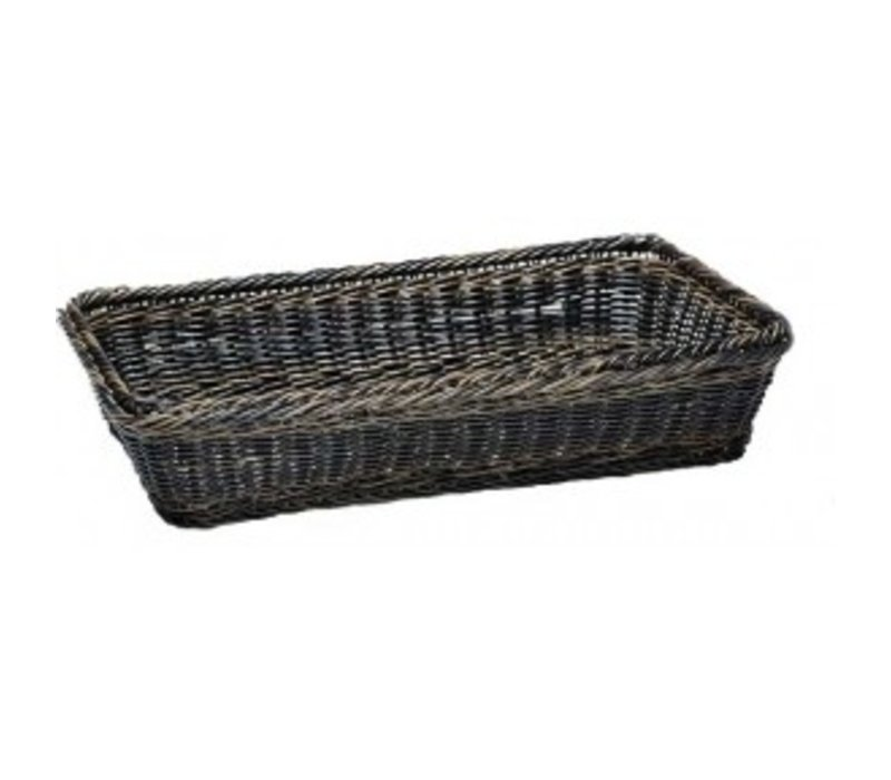 APS GN 2/3 Buffet basket - with stainless steel wire - 325x354x (h) 100mm