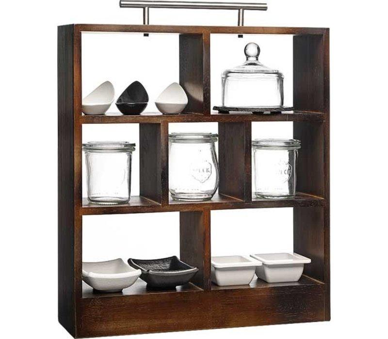 APS High Tea Rack | Edelstahl Griffe | 34x10x (H) 38cm